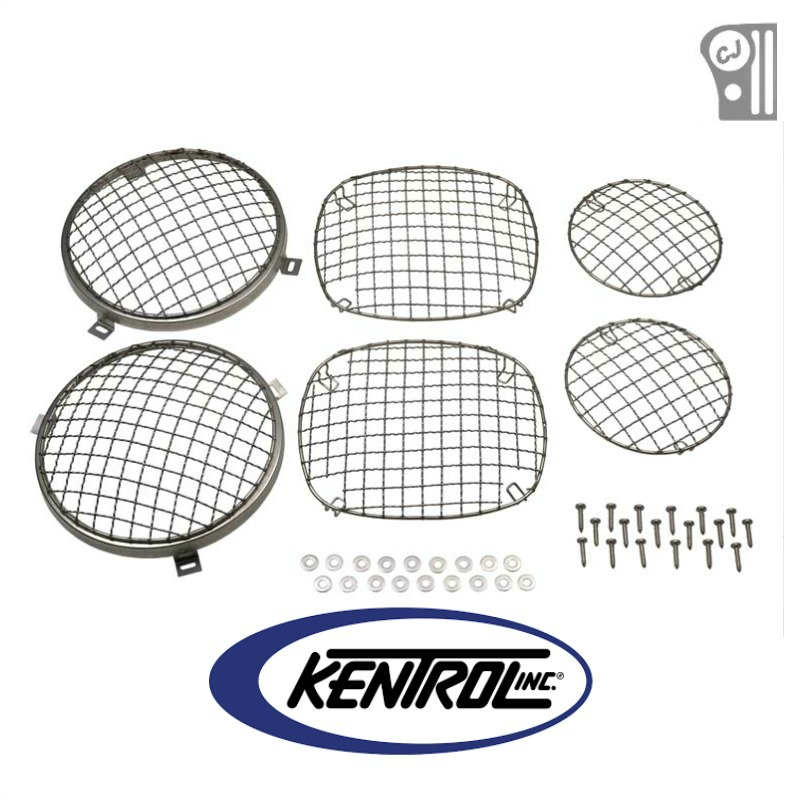 Kentrol 30465 Polished Stainless Steel Wire Mesh Guard Set