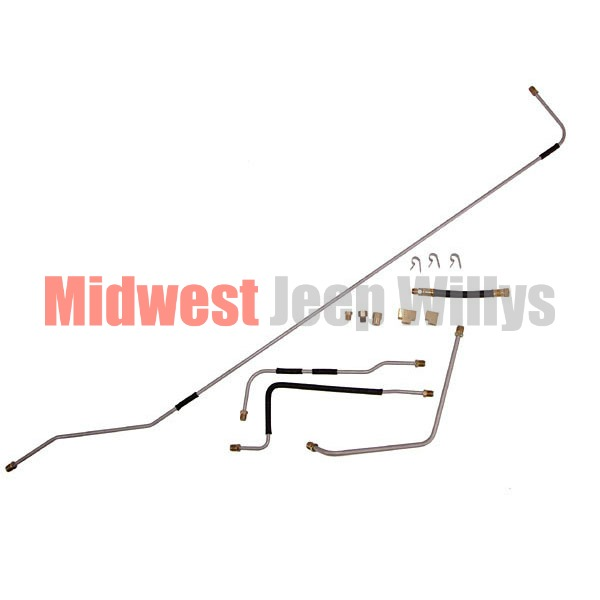 Jeep Part MS00202 Steel Fuel Line Kit, Fits 1950-1952