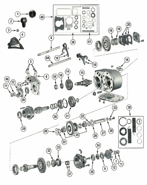 Jeep Dana 300 Transfer Case Parts for 1980-86 Jeep CJ