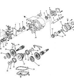transfer case dana spicer 20 exploded view diagram jeep dana 20 transfer case parts [ 1579 x 1130 Pixel ]