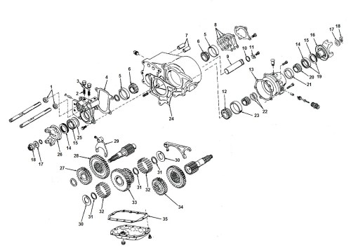 small resolution of transfer case dana spicer 20 exploded view diagram jeep dana 20 transfer case parts