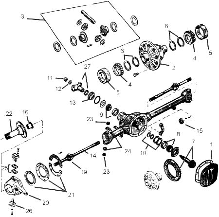 Willys MB Dana 25 Front Axle Parts, GPW Front Axle Parts