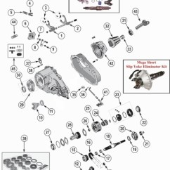 99 Jeep Xj Wiring Diagram 2003 Honda Civic Car Stereo Radio Wrangler Tj Np231 Transfer Case Parts From Midwest Willys