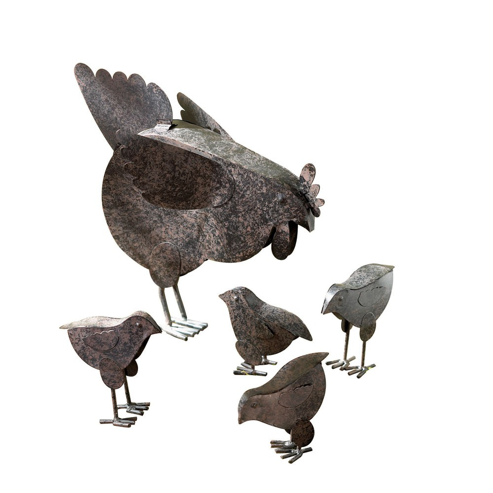 Metal Chicken Sculptures Wholesale At Koehler Home Decor