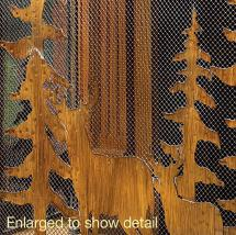 Rustic Forest Fireplace Screen Koehler Home Decor