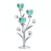 Triple Peacock Bloom Candle Holder Wholesale at Koehler ...