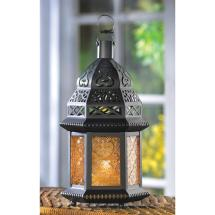 Yellow Glass Moroccan Lantern Koehler Home Decor