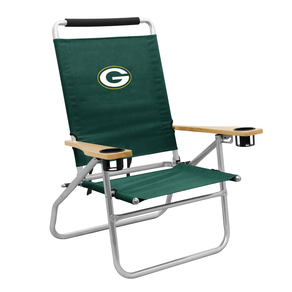 green bay packers chair striped dining seaside beach