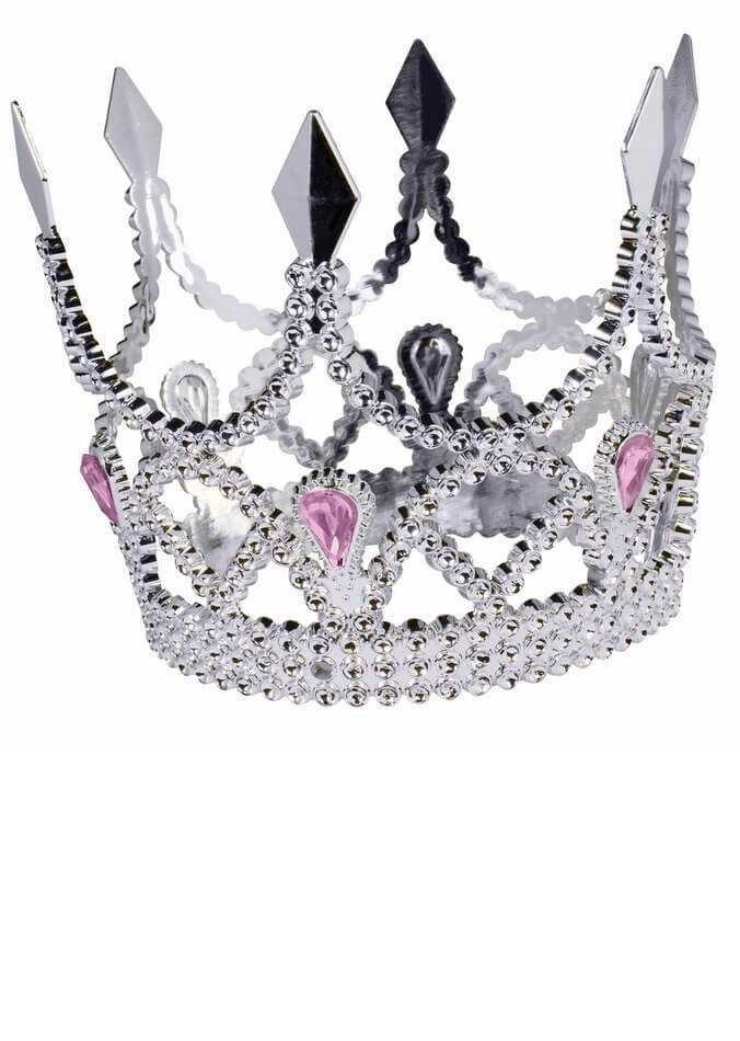 mini silver princess crown