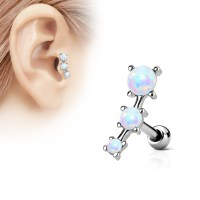 "(DISCONTINUED) 16 Gauge 1/4"" Triple Opal Cartilage ..."