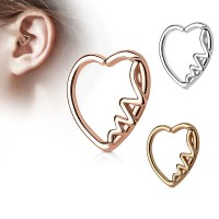 16 Gauge Multi CZ Heart Daith, Cartilage, Tragus, Helix ...