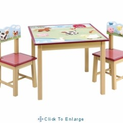 Little Kid Table And Chairs Desk Chair Red Guidecraft Farm Friends Kids 2 Set Free Shipping