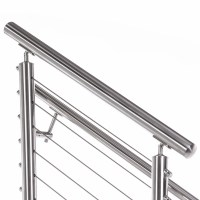 """2"""" Round Top Rail For 2"""" Round Stainless Steel Railing System"""