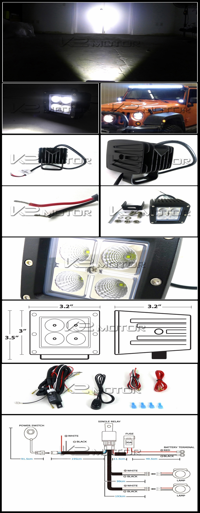 hight resolution of wiring harnes for 4 off road light