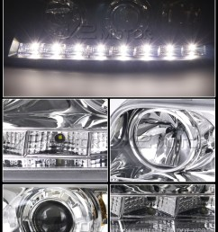 chrome led projector headlight inset 2 [ 800 x 1125 Pixel ]