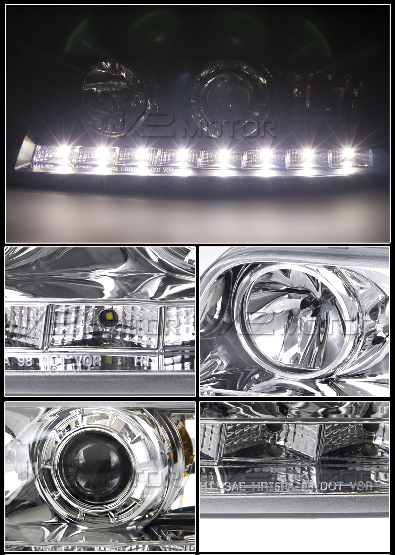 hight resolution of chrome led projector headlight inset 2