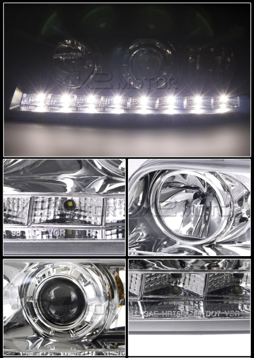 small resolution of chrome led projector headlight inset 2