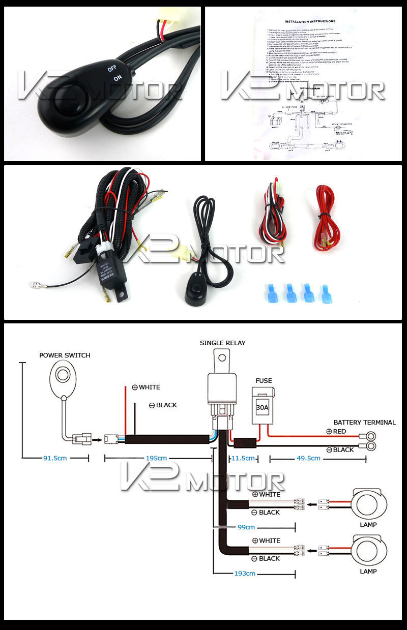hight resolution of off road led working lights wiring kit 4x4 off road light wiring kit off road light kit wiring
