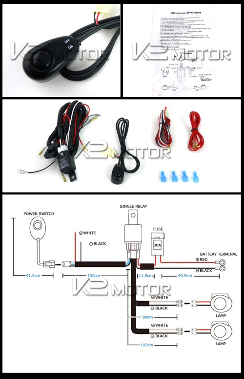 small resolution of off road led working lights wiring kit 4x4 off road light wiring kit off road light kit wiring