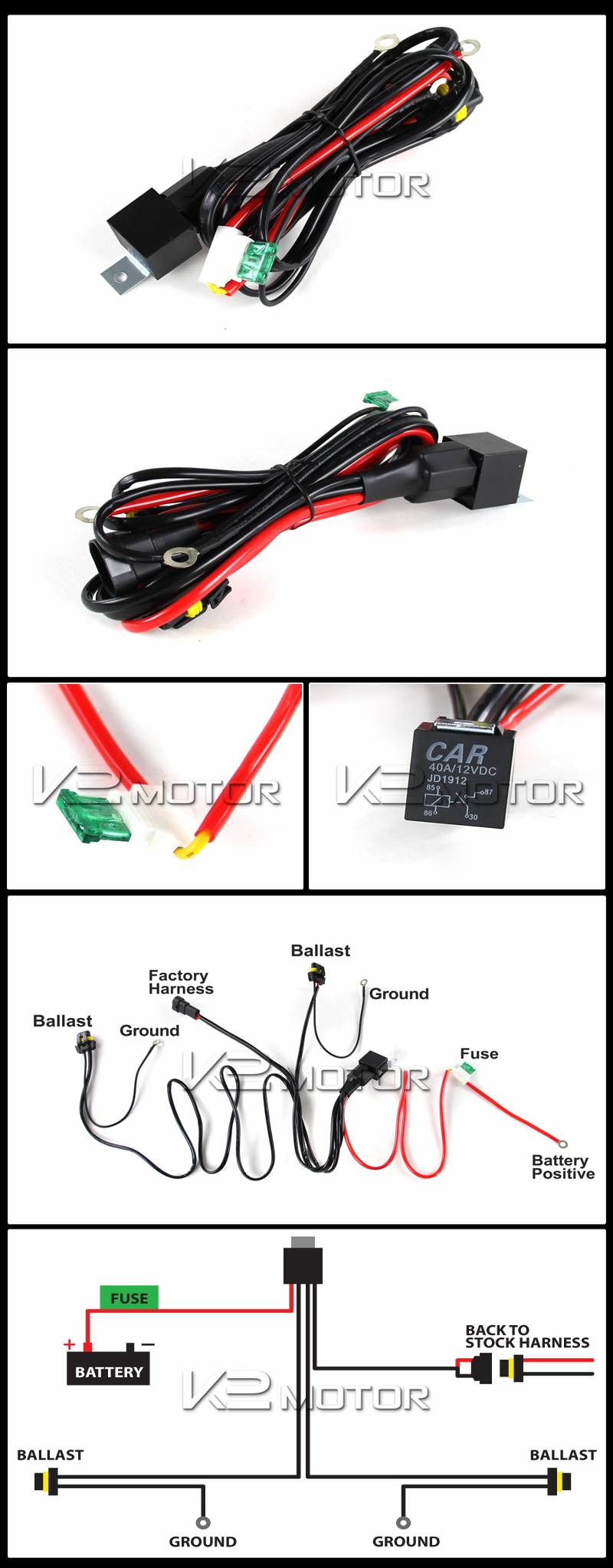 hight resolution of xenon hid conversion wiring harness kit inset 1
