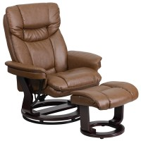 Swivel Reclining Chair And Ottoman. bonded leather swivel ...