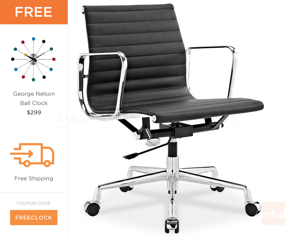 eames management chair replica round wicker indoor - ribbed office