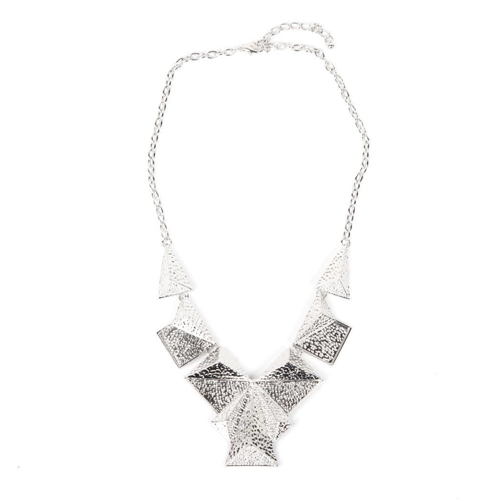 Authentic Rock Season Pyramid Necklace In Silver At