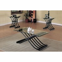 3pc Coffee End Table Set & Coaster Casual 3 Piece ...