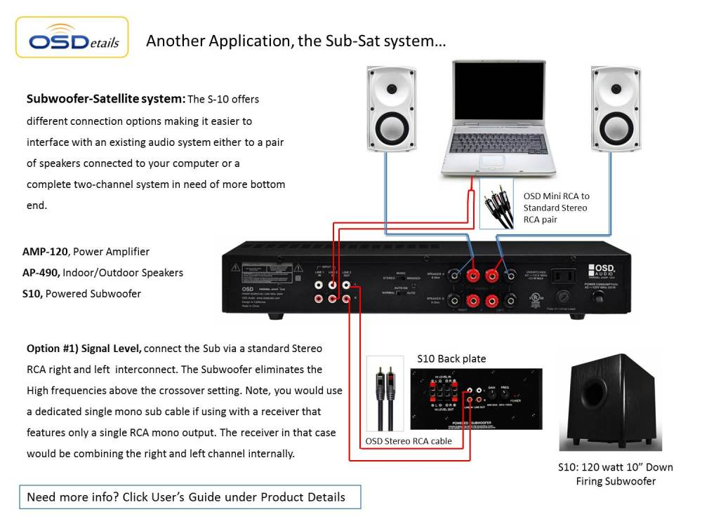 medium resolution of home theater subwoofer osd s10 high powered