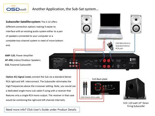 small resolution of home theater subwoofer osd s10 high powered