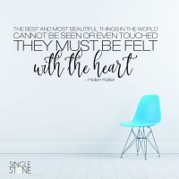Helen Keller Felt With The Heart - Wall Decals - Wall ...