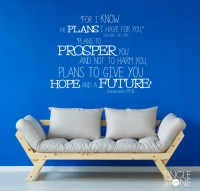 Jeremiah 29:11 Bible Verse - Wall Decals - Wall Decals ...