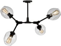 Artcraft JA14024BK Organic Modern Black Ceiling Light ...