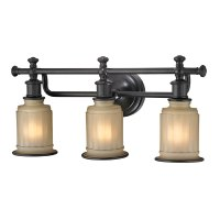 ELK 52012-3 Acadia Oil Rubbed Bronze 3-Light Bath Lighting ...