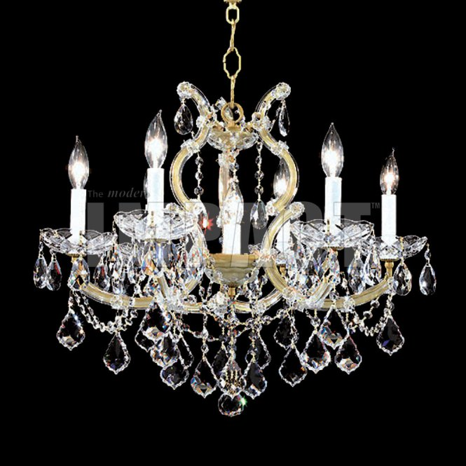 James Moder 40256gl22 Maria Theresa Crystal Gold Re Mini Hanging Chandelier Loading Zoom
