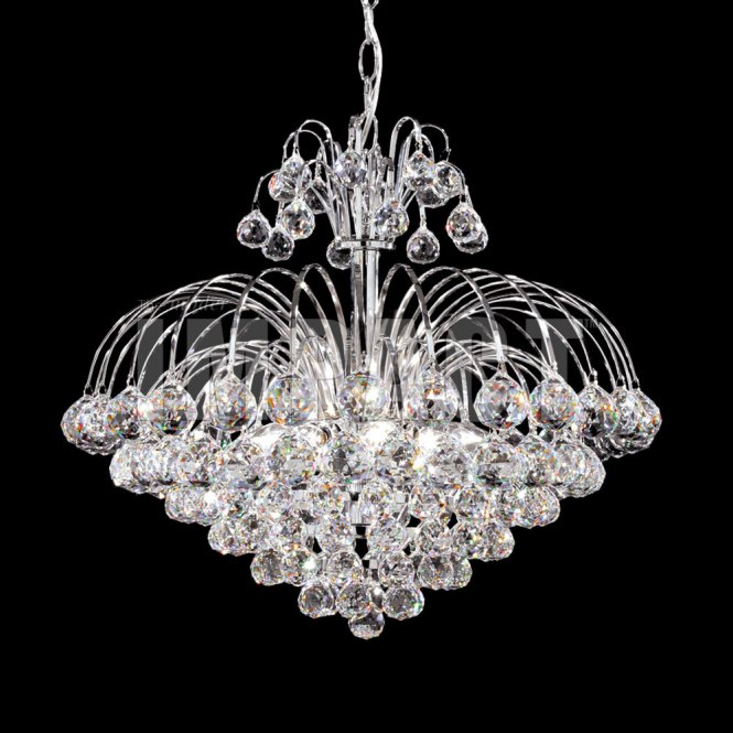 James Moder 40327s22 Cascade Crystal Silver Mini Hanging Chandelier Loading Zoom