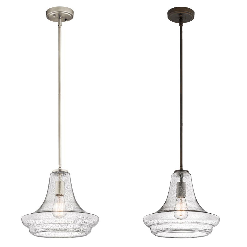 """Kichler 42328 Everly Vintage 11.5"""" Tall Ceiling Pendant"""