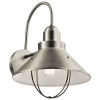 Kichler 9142NI Seaside Brushed Nickel Outdoor Wall Lamp ...