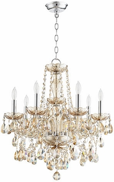 Quorum 630 8 614 Bohemian Katerina Traditional Chrome Mini Hanging Chandelier