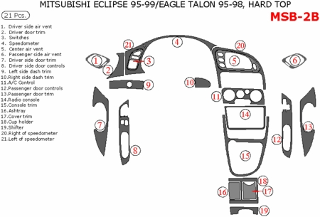 1995-1999 Mitsubishi Eclipse / 95-98 Eagle Talon Interior