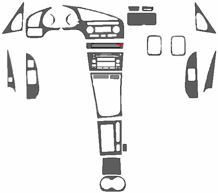 2001-2003 Acura CL Dash Kit: Manual, Auto Accessories