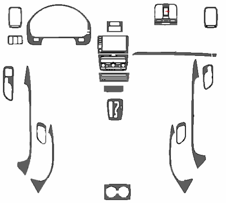 05 06 Acura MDX Main Dash Trim Kit Auto Accessories