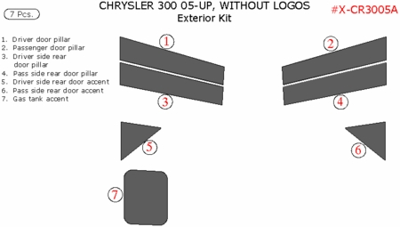 2005-2010 Chrysler 300 Exterior Kit Trims, with Door