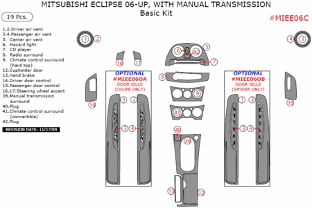 2006-2011 Mitsubishi Eclipse, Manual, Basic Interior Dash