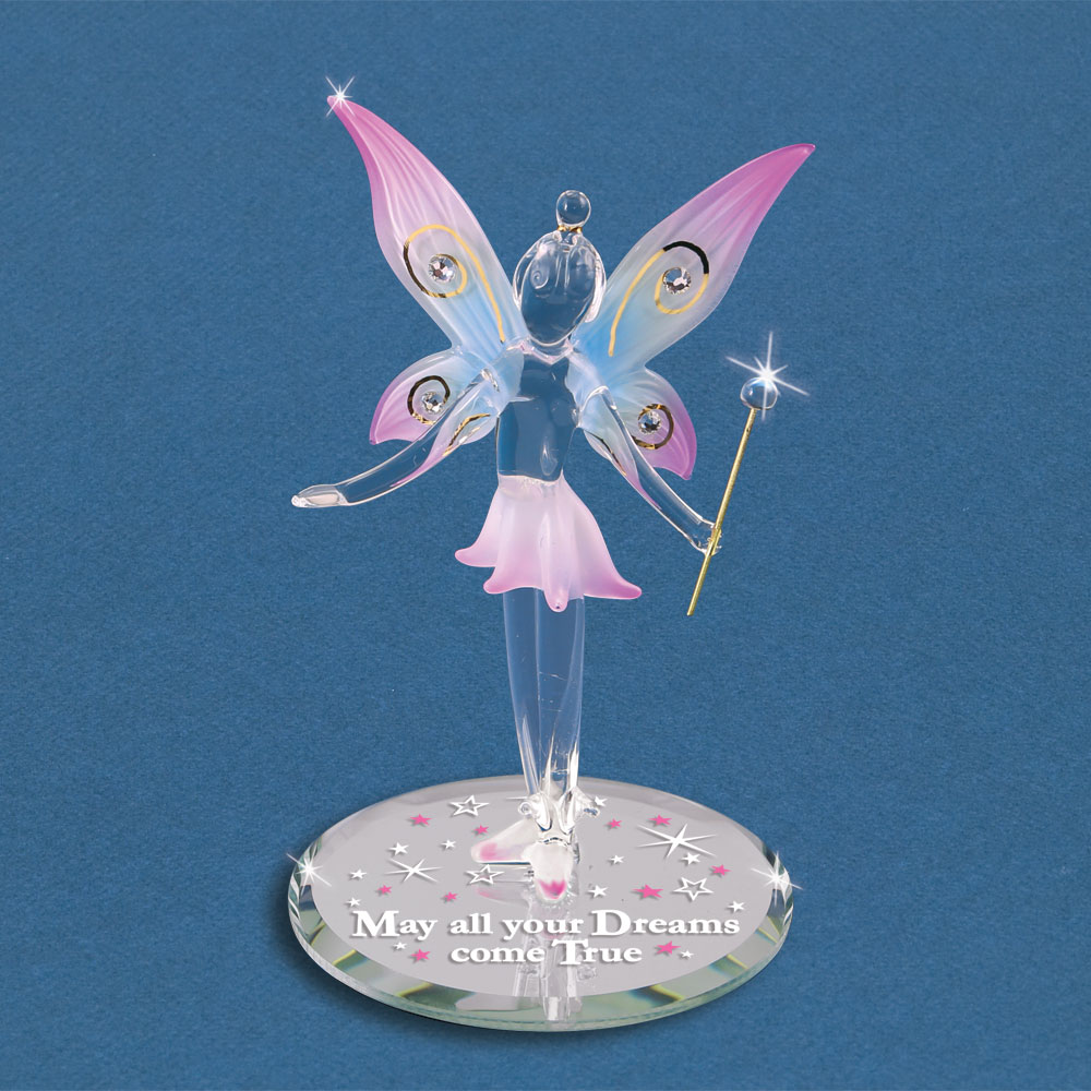 Glass Fairy Figurine May All Your Dreams Come True