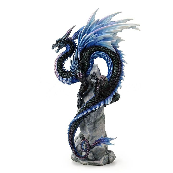 Sapphire Sentinel Dragon Figurine Fantasy Collectibles
