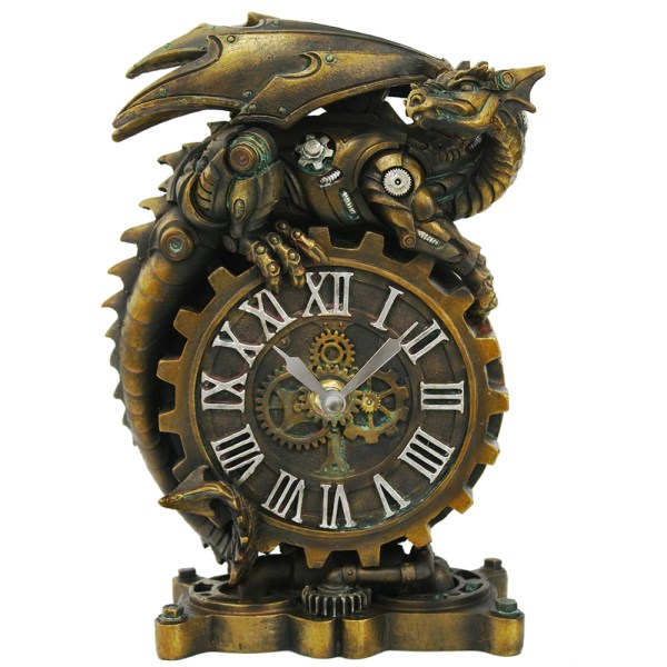 Steampunk Dragon Desk Clock & Collectibles