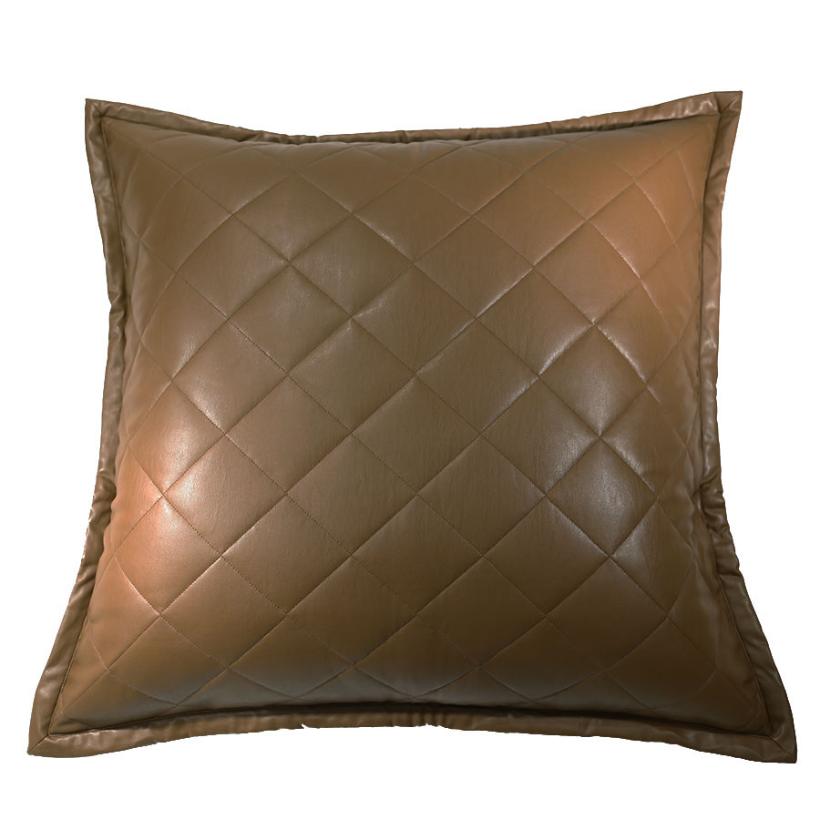 Faux Leather Euro Sham by Ann Gish Quilted  Art Of Home