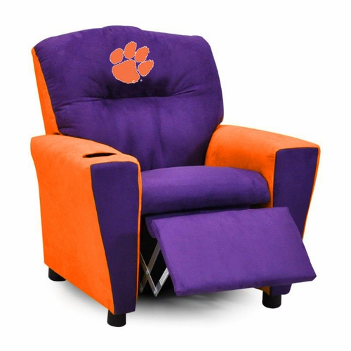 kid recliner chair traditional dining room chairs clemson university kids s tiger with cup holder recliners