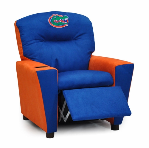 kid recliner chair hammock stand uk florida gator kids university of with cup holder for recliners